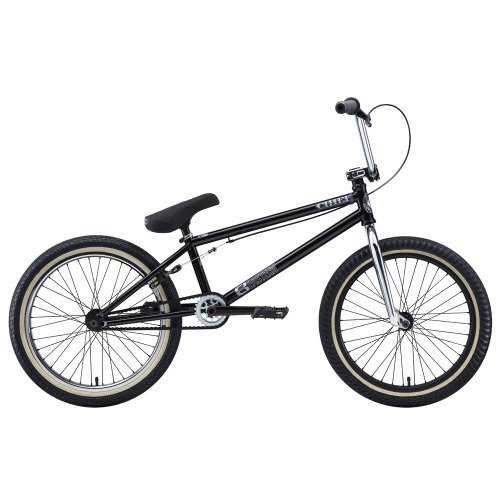 Eastern Bikes Chief 2013 Edition BMX Bike (Matte Black/Chrome Front/Black Rear Rim, 20-Inch)