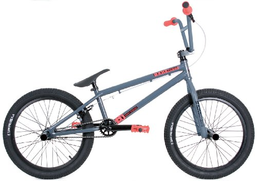 KHE Bikes Root 180 BMX Bike, Grey/Blue, 20.6-Inch