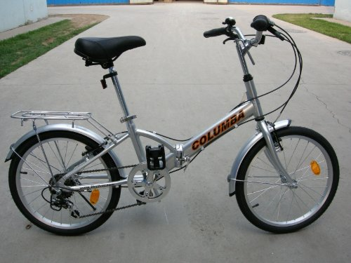Columba 20″ Alloy Folding Bike w. Shimano 7 Speed Silver (R20A_SLV)