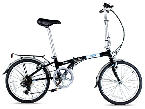 Ford by Dahon Taurus 2.0 7-Speed Folding Bicycle, Black, 11″ x 20″