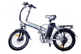 Greenbike USA Electric Motor Power Bicycle Lithium Battery Folding Bike