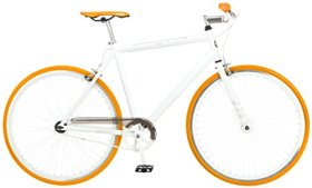 Mongoose Men's Disorder 700c Fixie Bike, White