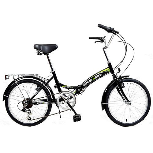Stowabike 20″ Folding City V2 Compact Foldable Bike – 6 Speed Shimano Gears