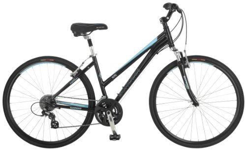 Schwinn Women's Mica 2.0 Hybrid Bike, Black, 16-Inch/Small