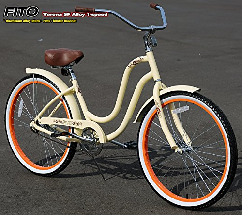 Anti-Rust Aluminum Alloy Frame, Fito Verona SF Alloy 1-speed Women's 26