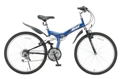 Raychell 26 inches 18-speed folding mountain Dark Blue MTB-2618R from Japan