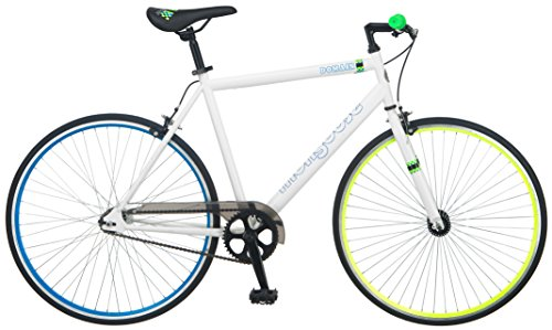 SMongoose Domain 700c Fixed-gear Road Bike, White