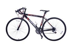 Merax 21-Speed 700C Aluminum Road Bike Racing Bicycle, 50CM Red