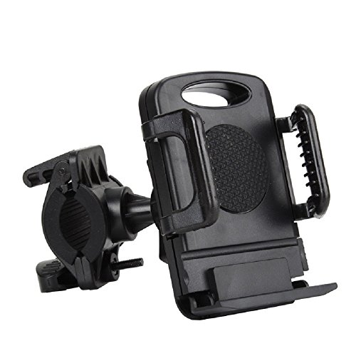MsFeng Bicycle Handlebar Mountain Bike Cell Phone Holder for Samsung Iphone Htc Nokia – High Grade Phone Bike Mount, Bike's GPS Navigation Holder 360 Degree Rotation Anti-Skip Anti-Shaking