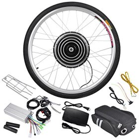 AW 48V 1000W 26″ Front Wheel Electric Bicycle Motor Kit E-Bike Cycling Hub Conversion Outdoor Sport