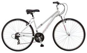 Schwinn Women's S3047TR Verano Hybrid Bike , 16″/Small, White