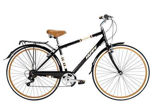 Huffy Bicycle Company Men's Number 26765 Modern Cruiser Sportsman Bike, 700cm, Gloss Black