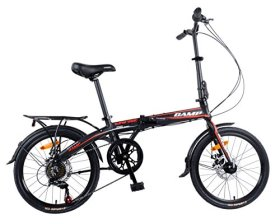 Camp 20″ Folding Bike Shimano 7 Speed,Super Sonic