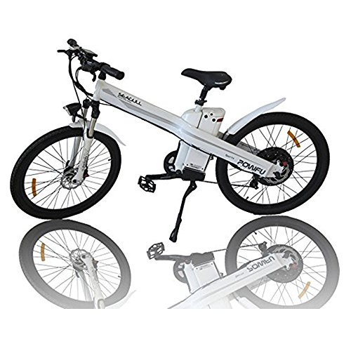 E-go Electric E Bike Hydraulic Brake 1000w 48v13ah White Pedal Assist Moped