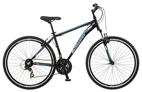 Schwinn GTX 1.0 700c Men's Dual 18 Sport Bike, 18-Inch/Medium, Black