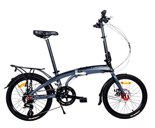 Camp 20″ Folding Bike Shimano 16 Speed, Thunder Bolt