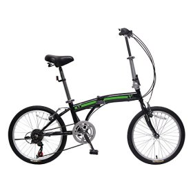 unYOUsual U arc 20″ Folding City Bike Bicycle 6 Speed Steel Frame Shimano Gear WANDA Tire Black