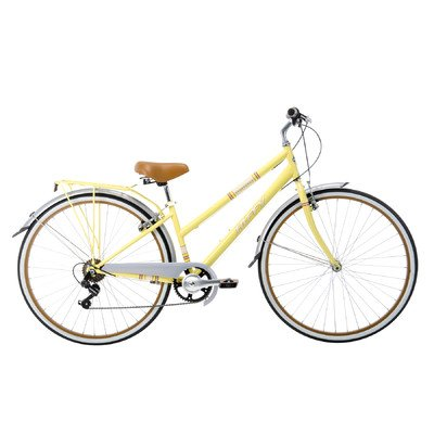 Huffy Bicycle Company Ladies Number 26775 Modern Cruiser Sportsman Bike, 700cm, Pale Yellow