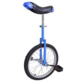 Astonishing Blue 18 Inch In 18″ Mountain Bike Wheel Frame Unicycle Cycling Bike With Comfortable Release Saddle Seat