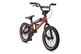 SE Bicycles Lil Ripper BMX Bicycle, 16″/XX-Small, Metallic Red