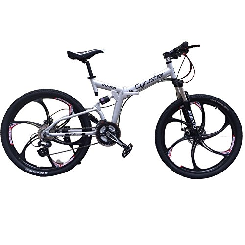 Cyrusher RD-100 Sliver Aluminium Frame Full Suspension Mens Mountain Bike Shimano ALTUS 24 Gears Disc Brakes