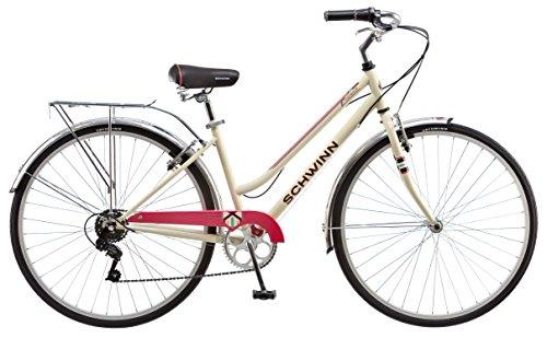 Schwinn Women's S3045TR Fahrenbrook Hybrid Bike , 16″/Small, Cream