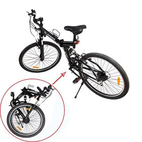 Ridgeyard 26 Inch Suspension fork Foldable 7 Speed Mountain Bike Folding Bicycle MTB Sport V-brack