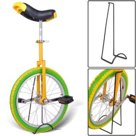 20″ Mountain Bike Wheel Unicycle with Quick Release Adjustable Seat Color Lemon
