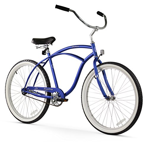 Firmstrong Urban Man Single Speed Beach Cruiser Bicycle, 26-Inch, Matte Blue