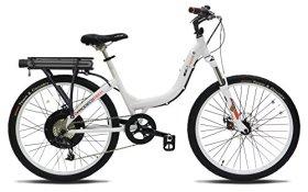 ProdecoTech Stride 500 W V5 36V500W 8 Speed Electric Bicycle 11Ah Samsung Li-Ion, Pearl White, 18″/One Size