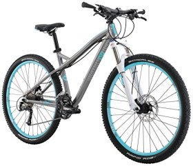 Diamondback Bicycles Women's 2016 Lux Sport Hard Tail Complete Mountain Bike, 15″/Small, Dark Silver
