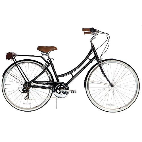 XDS Bikes Women's Nadine 7-Speed Aluminum City Bike, Black