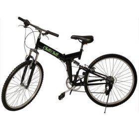 New 26″ Folding 6 Speed Mountain Bike Bicycle School Sport Black Shimano Parts