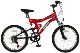Revolution Reactor Dual Suspension Mountain Bike (Red, 20-Inch)