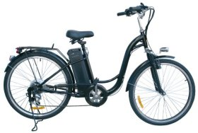 Watseka XP Sport-Electric Bicycle-26″-6 speed-Adult/Young Adult-Black