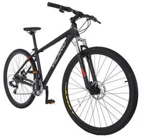 Vilano Blackjack 2.0 29er Mountain Bike MTB with 29-Inch Wheels, Black, 17-Inch