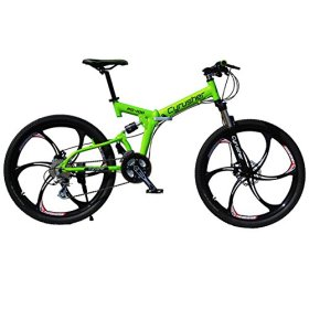 Cyrusher RD-100 Green Aluminium Frame Full Suspension Mens Mountain Bike Shimano ALTUS 24 Gears Disc Brakes
