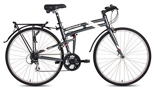 New 2016 Montague Urban Folding 700c Pavement Hybrid Bike Smoke Silver 21″