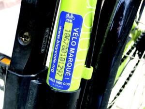 vélo marqué BICYCODE®