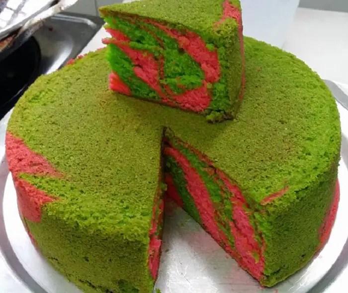 resepi kek marble kukus dapurku sayang kek velvet kukus marblepelangi kek marbel kukus Resepi Kek Coklat Guna Blender Enak dan Mudah