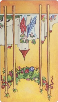 Four of Wands Tarot Card Meanings tarot card meaning