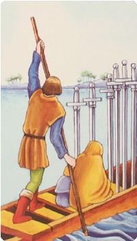 Six of Swords Tarot Card Meanings tarot card meaning