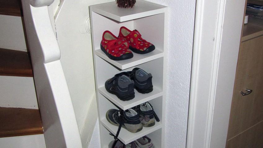 etagere a chaussures pour les enfants