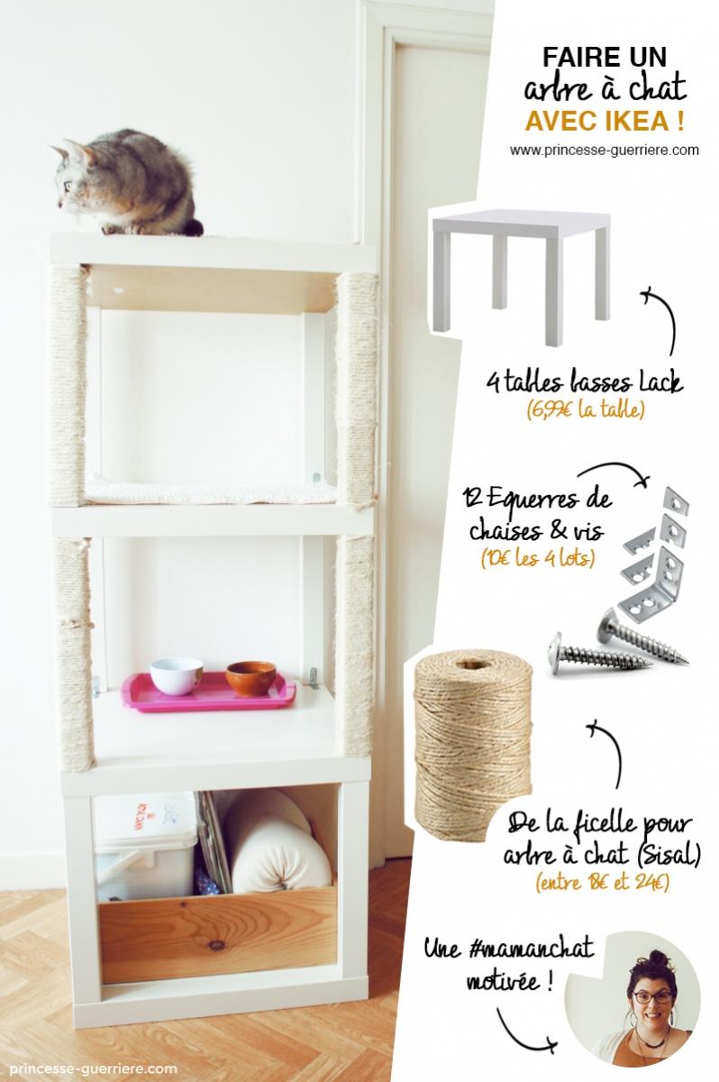 Un arbre  chat IKEA DIY  Bidouilles IKEA