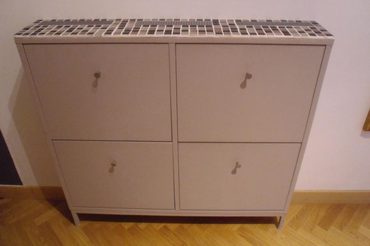 S bidouilles entree customiser meuble a chaussures sandnes for Ikea salle de bain petit espace
