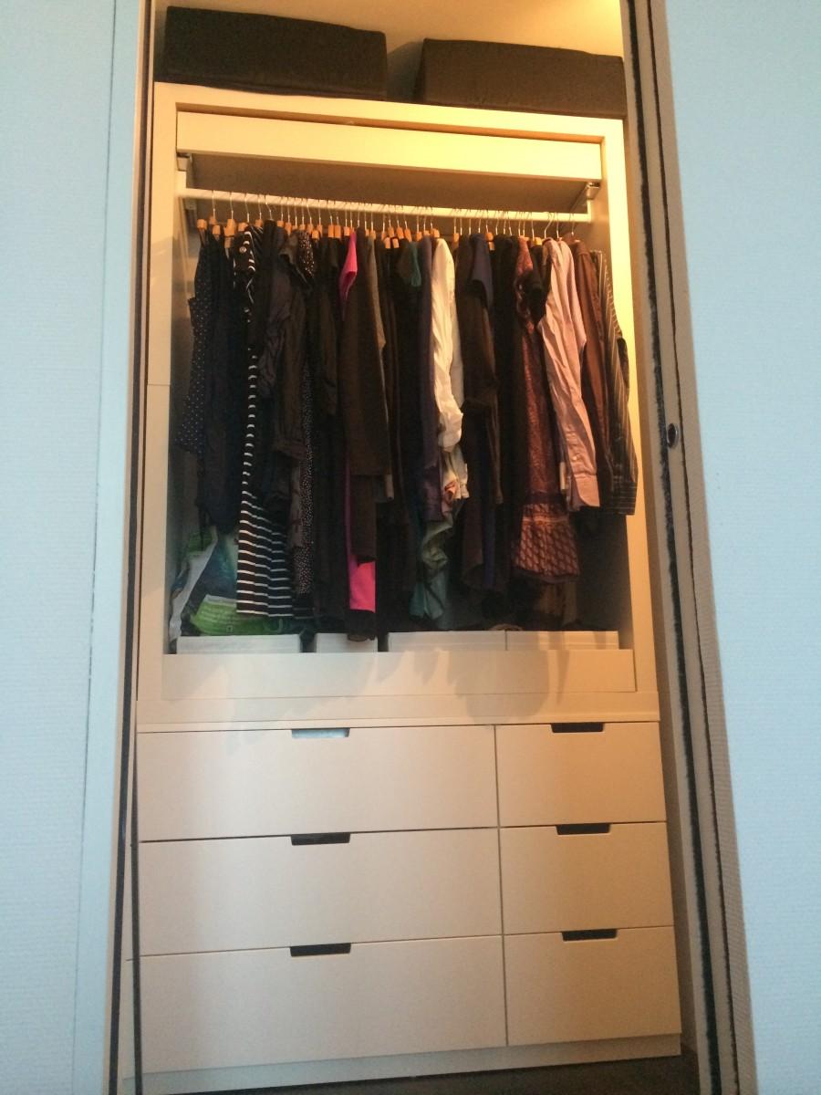 Garde Robe Ultra Simple Avec NORDLI Et MALM