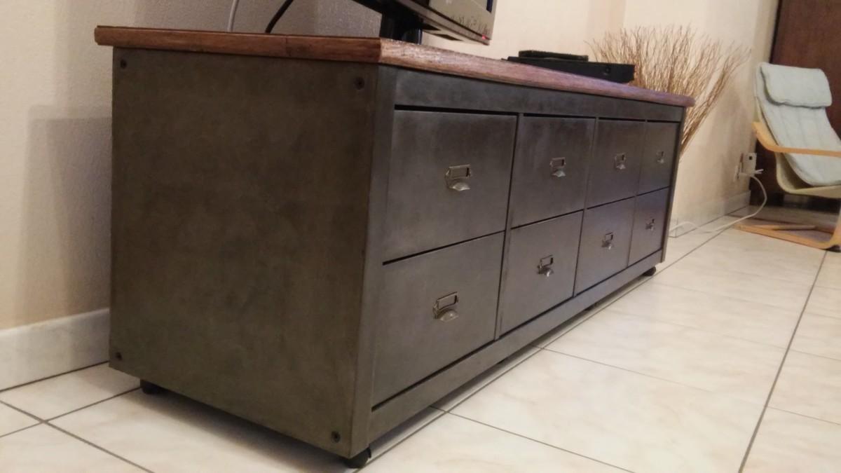 meuble style indus kallax style industriel