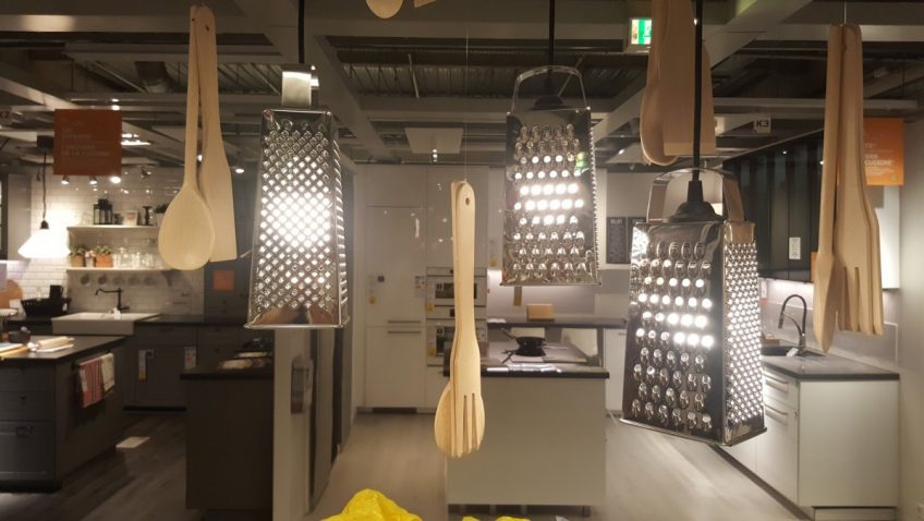 une suspension de cuisine ikea diy tres