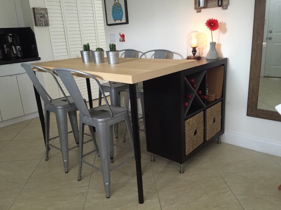 2 En 1 îlot De Cuisine Ikea Et Table Pas Cher En Diy
