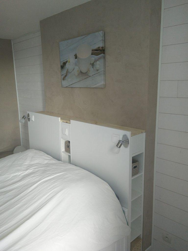 Magnifique tte de lit IKEA avec rangements en DIY